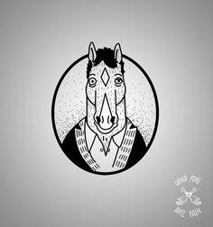 Bojack horseman  100%PAIN TATTOO STUDIO . JOIN!  https://www.facebook.com/groups/1526764584213662/