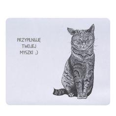 Podkładka pod mysz z kotem. Jaka podkładka będzie lepsza niż ta z kotem? :)) Fajny prezent