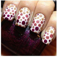 Beautiful dot nails :) follow @kpandaanails  - @Fashion Of The World- #webstagram