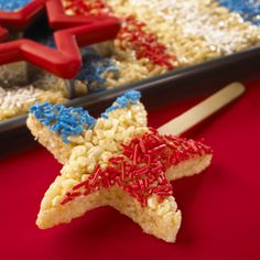 Cheer for Team USA with our Rice Krispies Star Cutouts.