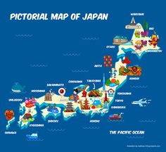 Pictorial Travel map of Japan My Japan Trip Pinterest Travel