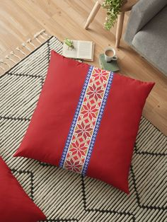 'Cross stitch pattern 01 - red' by ZsaMo Cross Stitch Patterns, Throw Pillows, Red, Color, Design, Toss Pillows, Cushions, Colour