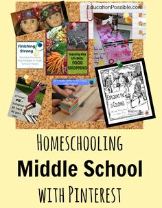 Homeschooling Middle School with Pinterest @Education Possible