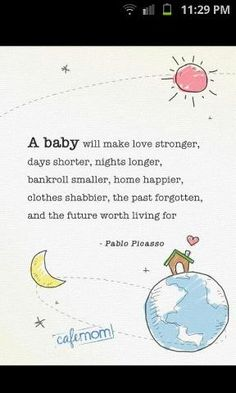 Whenever I find myself complaining about all these night wakings, I stop and think about how very blessed we are to have our babies! Some people are not very fortunate and would love to be woken up all through the night if it meant having a child.