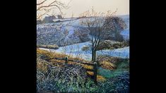 Oil painting Winter Landscape based on a tutorial by Michael James Smith. Michael James Smith, Painting Videos, Winter Landscape, Frost, City Photo, Oil