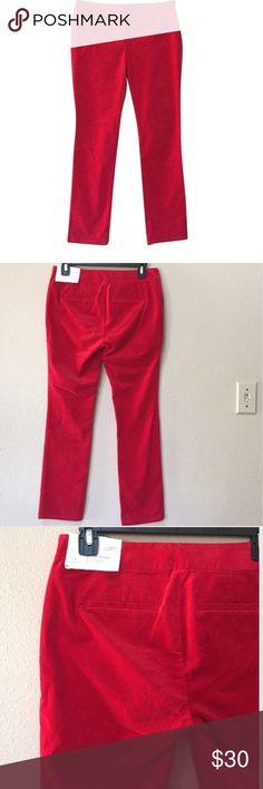 "Ann Taylor LOFT velvet skinny pants NWT Ann Taylor LOFT red velvet pants. Size 2P. Approximate measurements: length 36"", inseam 28"" waist 15"". LOFT Pants Skinny"
