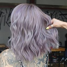 Shared by *Emma*. Find images and videos about purple hair, lilac hair and lavender hair on We Heart It - the app to get lost in what you love. Lavender Grey Hair, Purple Grey Hair, Pastel Lilac Hair, Lilac Silver Hair, Pastel Hair Colors, Purple Wig, Silver Color, Light Purple Hair Dye, Pastel Colored Hair