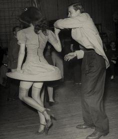Dancers 1940s.   jitterbug dancing