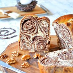 Croatian Swirl Bread Poviticia - A gorgeous vanilla bean bread filled with a delicious cocoa walnut paste. Such a teaser!