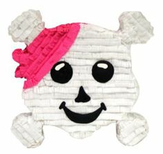 Aztec Imports Pink Pirate Crossbones Pinata by Aztec Imports Inc.. $19.99. Made of cardboard and tissue paper. Includes strong cable tie at the top for hanging pinata. Makes great decoration and fun party game at theme birthday parties. Pinata can be filled with up to 2lbs of toys and candy. Includes opening for filling pinata. From the Manufacturer                Fit for a girl's birthday party on the Pirates Party theme.