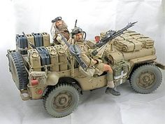 WAw2 SAS jeep Jeep Willys, Military Diorama, Military Art, Army Vehicles, Armored Vehicles, Special Air Service, Jeep Models, Military Action Figures, British Armed Forces