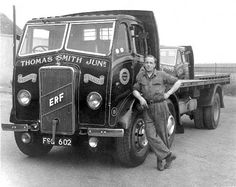 An ERF lorry belonging to Thomas Smith Junr at Newhaven Classic Trucks, Classic Cars, Old Lorries, Road Transport, Classic Motors, Train Car, Fire Engine, Commercial Vehicle, Vintage Trucks