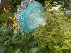 Glass Flowers For Garden Vaulted Ceiling Designs For Homes Glass Flower | Garden Art | Pinterest