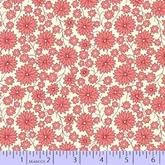 1930 Reproduction Fabric Grace in a Pickel daisy pink 3773