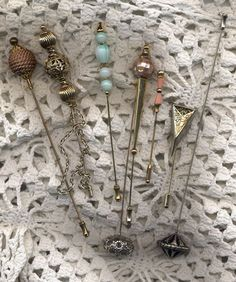 Beautiful hatpins by memoiatelier