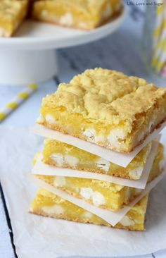Lemon White Chocolate Gooey Bars & other lemon desserts