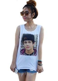 Austin Mahone Tank top Teenie Pop music Newcomer by dazztees, $14.99