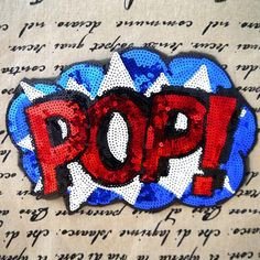 Hot Sale POP Sequins Patches Embroidered Iron On Patches for Clothing DIY Motif Applique Patchwork Fabric Garment Accessories