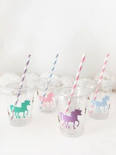 Unicorn Party Cups Unicorn Birthday First Birthday