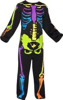 Smiffy's Disfraz de esqueleto neón