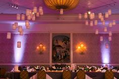 Floating lanterns wedding decor at the Grand Floridian resort