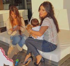 Antonella Roccuzzo avec Daniella Semaan et Lia