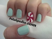 Cute    Watch My Video Tutorial @ http://polishpedia.com/peppermint-candy-nail-art.html