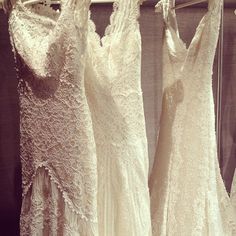 Lovely lace gowns by Pronovias