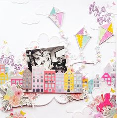 Don't think you can create a layout only using a paper pad? Here are some easy ways you can make the most of that pint-sized pad of papery goodness! Kids Scrapbook, Scrapbook Page Layouts, Scrapbook Paper Crafts, Scrapbook Cards, Scrapbook Designs, Smash Book Pages, Paper Bag Album, Go Fly A Kite, Art Lessons Elementary