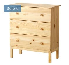 Before and After: A Glamorous IKEA Tarva Dresser Makeover