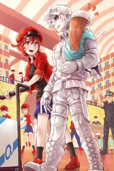 Red Blood Cell, White Blood Cell and Platelet Anime Meme, Otaku Anime, Manga Anime, Blood Anime, Fan Art Anime, Corpse Party, Cosplay, Blood Cells, Cute Anime Couples
