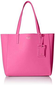 kate spade new york Cape Drive Hallie Tote Bag, Tulip Pink/Bright Papaya, One Size