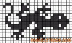 lizard friendship bracelet pattern Alpha Pattern #13122 added by Kelly11