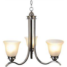 SANIBEL™ CHANDELIER CEILING FIXTURE WITH THREE 13 WATT COMPACT FLUORESCENT LAMPS, 24-3/4 IN.