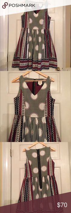 Anthropology Maeve A-Line Dress A-line lined Anthropology dress. Like new worn very few times. Maeve Anthropology Dresses Midi