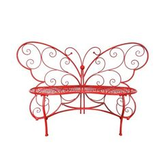 Metal Garden Benches, Outdoor Garden Bench, Garden Seating, Outdoor Seating, Outdoor Spaces, Outdoor Gardens, Butterfly Shape, Butterfly Design, Solar Garden Stakes