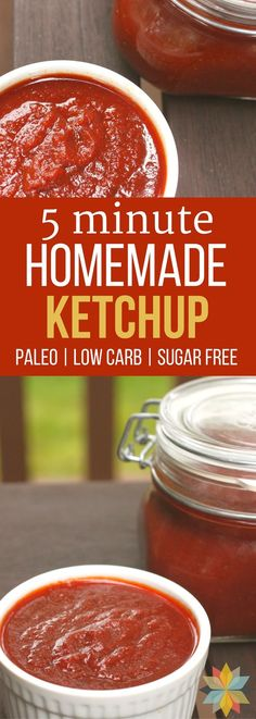 Did you know that most ketchup has high fructose corn syrup and hidden MSG in it? This Easy Homemade Ketchup Recipe is sugar free, has no corn syrup and can be made super fast. Great for those on special diets and costs way less than the health food store brands. via @wholenewmom