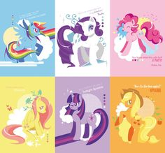 My Little Pony Friendship is Magic Postcard Set of 6. $8.50, via Etsy.