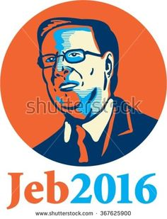"""Jan. 26, 2016: Caricature vector illustration showing Bernard """"Bernie"""" Sanders, American Senator, elected politician and Democrat presidential candidate standing and words Bernie 2016 done caricature style. - stock vector #Bush2016 #caricature #illustration"""