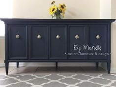 Darling Buffet in Midnight Blue Chalk Style Paint | General Finishes Design Center