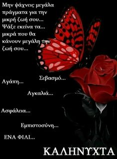 Good Night Messages, Good Night Quotes, Goeie Nag, Beautiful Pink Roses, Good Night Sweet Dreams, Greek Quotes, Picture Quotes, Thoughts, Cards