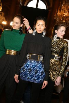 Backstage at Balmain RTW Fall 2013
