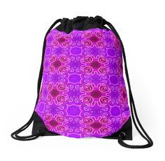 "#DrawstringBag. Seamless abstract and geometrical texture ""east pattern"" 2 by floraaplus"