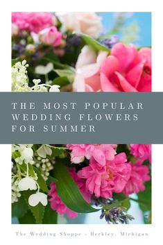 With its warm weather and fresh blooming flowers, summer is our favorite wedding season. From roses to orchids, here are some of our favorite and most popular wedding flowers for your summer ceremony. Summer Wedding Favors, Summer Wedding Decorations, Summer Wedding Bouquets, Wedding Pins, Wedding Vendors, Floral Wedding, Wedding Flowers, Wedding Ideas, Storybook Wedding