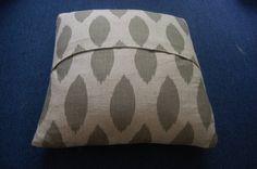no-sew pillow using hemming tape/glue