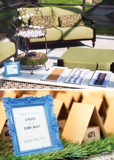 Shower Idea: Gone Glamping! {Glamorous Camping Party}