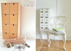 Upcycled from an IKEA Moppe chest, this DIY apothecary cabinet is a stylish solution for storing CDs... - interiorfrugalista.com
