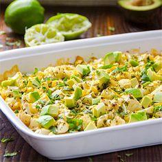 Lime and Cilantro Cauliflower with Avocado
