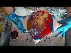 Acrylbilder gießen (31); Dirty Flip Cup mit Gelb, das mit Weiß aufgehellt und angedickt wurde. - YouTube
