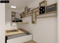 Małe mieszkanie i wydzielone miejsce do spania - propozycja architekta